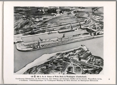 View: GB 2, BB 5, Nr. 2: Prince of Wales Dock in Workington (Cumberland), England.
