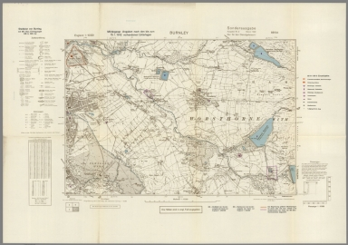 Street Map of Burnley, England with Military-Geographic Features. BB 9d.