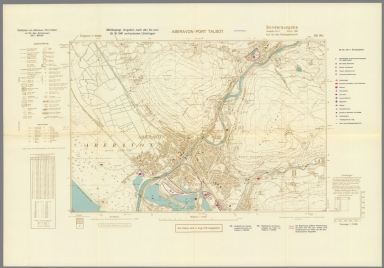 Street Map of Aberavon-Port Talbot, Wales with Military-Geographic Features. BB 26c.