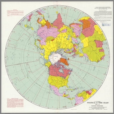 U.S. Air Force. Political and Time Chart GH-1a, Northern Hemisphere.