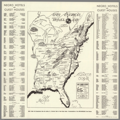 Afro-American Travel Map.