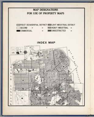 Legend: Map Designations for Use of Property Maps. Index Map: Index Map.