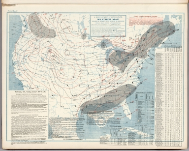 United States Daily Weather Maps With Washington Chicago Portland Oregon And San Francisco Forecasts January 1 1901 To June 30 1901