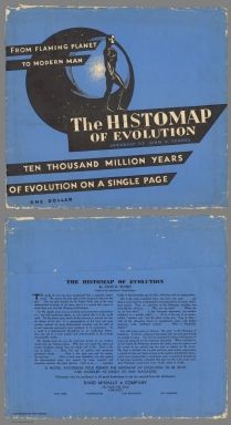 Covers: The Histomap of Evolution. From the flaming planet to modern man.