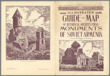 Covers: Illustrated Guide-Map of Historical Architectural Monuments of Soviet Armenia