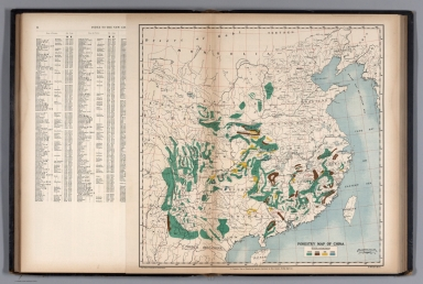 Forestry Map of China.