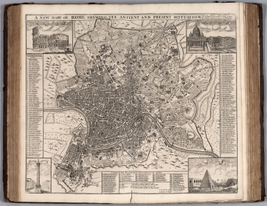 New Mapp of Rome Shewing Its Antient and Present Scituation.