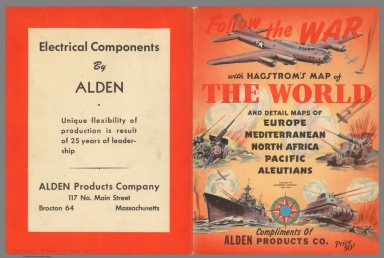 Covers: Follow the War with Hagstrom's Map of the World and Detailed Maps.