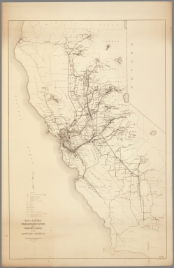 Gas and electric transmission system and territory served by Pacific Gas and Electric Co.