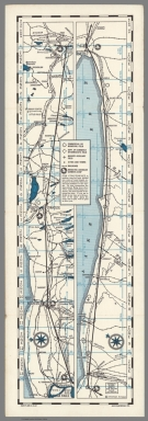 Souvenir air map showing route between Albany - Cleveland via Buffalo