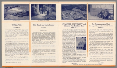 Text Page: Tamalpais; Muir Woods ... Stanford University; See china Town after dark