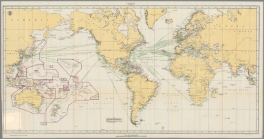 Post Office Department : Ocean map showing Merchant Marine Act mail routes