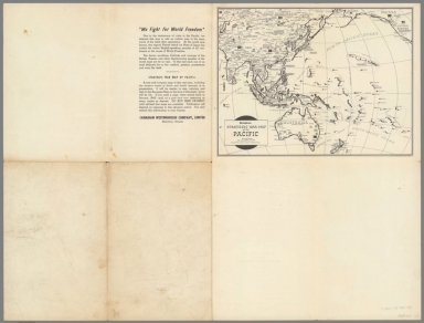 Covers: We fight for freedom. Westinghouse strategic war map of the Pacific