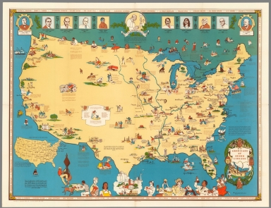 Browse All : Separate Map and Pictorial map of United States from ...