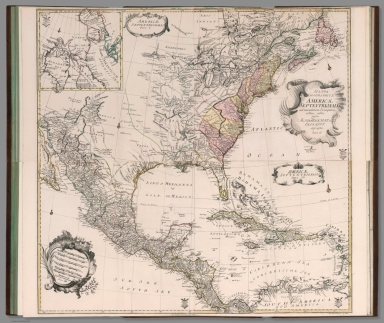 Composite map: Mappa geographica Americae Septentrionalis pars I-IV
