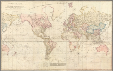 Composite: A Chart of the World upon Mercator's projection exhibiting all the new discoveries. Sheets 1-8.