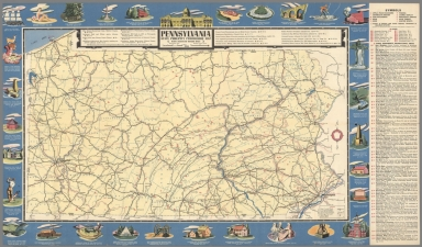 Pennsylvania State Publicity Commission map