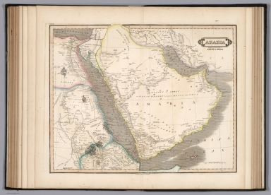 Arabia with the adjacent countries of Egypt & Nubia