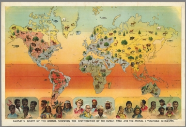 Climatic Chart of the World, Showing the Distribution of the Human Race and the Animal and Vegetable Kingdoms
