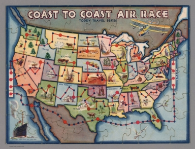 Coast to Coast Air Race. Toddy Travel Series.