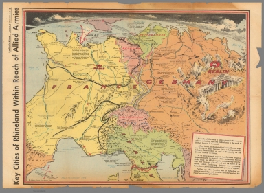Key cities of Rhineland within reach of allied armies