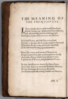 Frontispiece: The meaning of the frontispiece