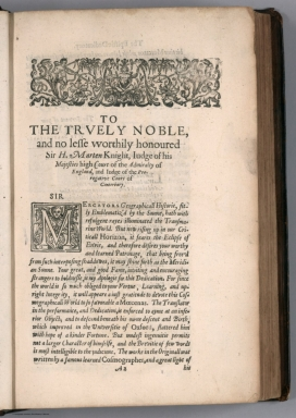 Text Page: To the trvely nobel, and no lesse worthily honoured Sir H. Marten Knight ...