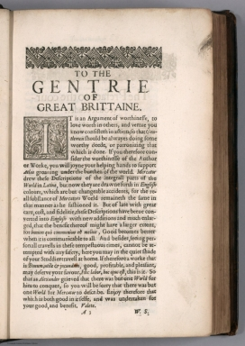 Text Page: To the Gentrie of Great Brittaine