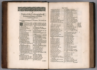 Text Page: A Table of the Cosmographicall Descriptions ...