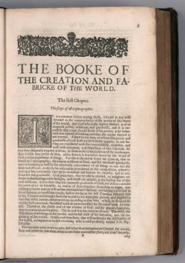 Text Page: The booke of the creation and fabricke of the world