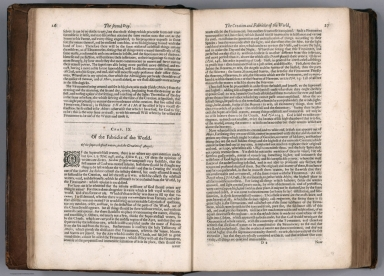 Text Page: (Continues) The booke of the creation and fabricke of the world