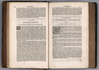 Text Page: (Continues) The booke of the creation and fabricke of the world. An Introduction To Vniversall Geographie ...