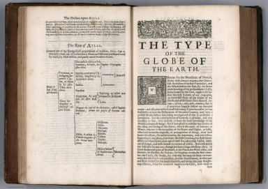 Text Page: (Continues) The Preface upon atlas. The type of the globe of the earth