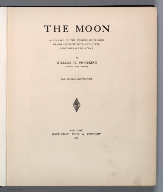 Title Page: The moon : a summary of the existing knowledge of our satellite