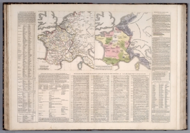 Carte geographique de France. No. XII