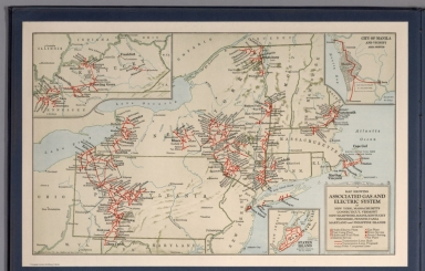 Map showing Associated Gas and Electric system in New York ...