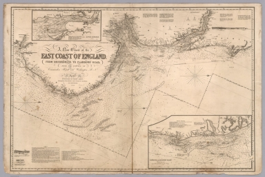 A new chart of the East Coast of England : From Orfordness to Flamboro Head