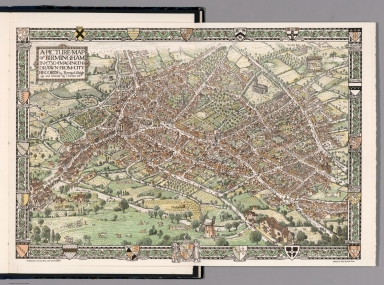 A picture map of Birmingham in 1730