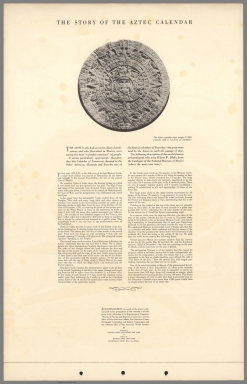 Text Page: The story of the Aztec Calendar
