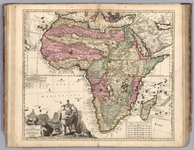 Africae in Tabula Geographica Delineatio