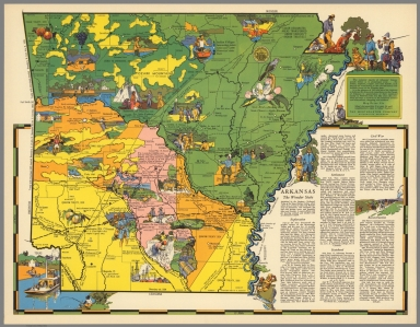 The romantic epochs of Arkansas, history parade before us in picturesque array
