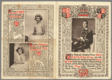 The high and mighty Prince Albert Frederick Arthur George, Princesses Elizabeth and Margaret