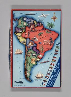 Covers: South America map puzzle