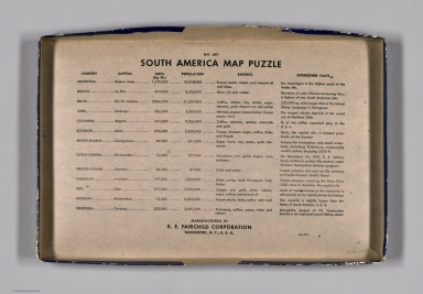 Index: No. 681, South America map puzzle
