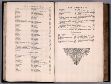 Index Page: The Contents ... (continued).