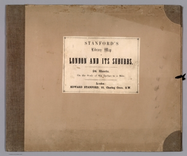 Covers and Title Page: Stanford's Library Map of London and Its Suburbs.