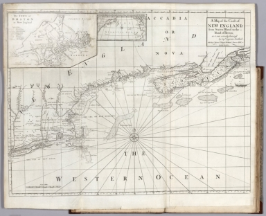Map of the Coast of New England, from Staten Island to the Island of Breton.