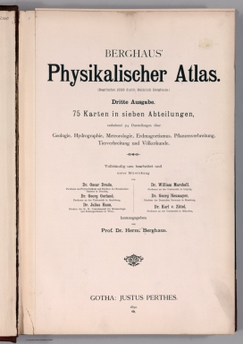 Title Page: Berghaus' Physikalischer Atlas