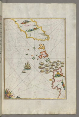 fol. 82b Area between the islands of Ikaria and Samos in the eastern Aegean Sea