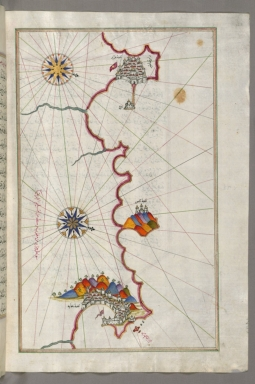 fol. 271b Algerian coastline from Algiers to Bejaia